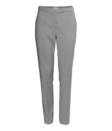 Suit Trousers - length: standard; pattern: plain; pocket detail: small back pockets, pockets at the sides; waist: mid/regular rise; predominant colour: light grey; occasions: casual, work, creative work; fibres: polyester/polyamide - stretch; fit: slim leg; pattern type: fabric; texture group: woven light midweight; style: standard; season: a/w 2013