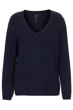 Cashmere V Neck Jumper Boutique - neckline: v-neck; pattern: plain; style: standard; predominant colour: navy; occasions: casual, work, creative work; length: standard; fit: standard fit; fibres: cashmere - 100%; sleeve length: long sleeve; sleeve style: standard; texture group: knits/crochet; pattern type: knitted - fine stitch; season: a/w 2013