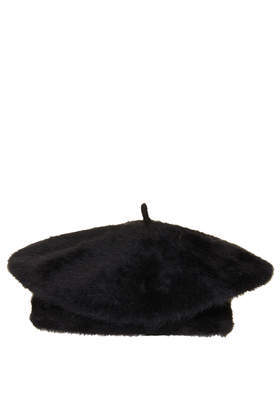 Black Beret - predominant colour: black; occasions: casual; type of pattern: standard; style: beret; size: standard; material: knits; pattern: plain; season: a/w 2013