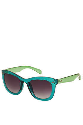 Wendy Catty Sunglasses - secondary colour: lime; predominant colour: mint green; occasions: casual, holiday, creative work; style: d frame; size: standard; material: plastic/rubber; finish: plain; pattern: colourblock; trends: playful prints; season: a/w 2013