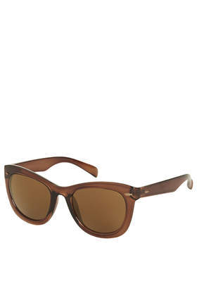 Wendy Catty Sunglasses - predominant colour: chocolate brown; occasions: casual, holiday; style: d frame; size: standard; material: plastic/rubber; pattern: plain; finish: plain; season: a/w 2013