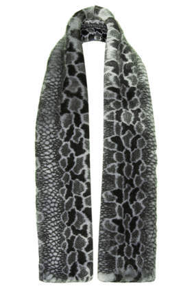 Mottled Oversize Stole - predominant colour: charcoal; secondary colour: light grey; occasions: casual, evening, work, creative work; type of pattern: standard; style: regular; size: standard; material: fabric; pattern: animal print; season: a/w 2013