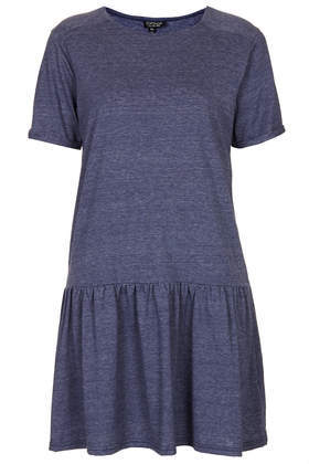 Drop Waist Tunic - pattern: plain; waist detail: drop waist; style: tunic; predominant colour: navy; occasions: casual, creative work; fibres: polyester/polyamide - mix; fit: body skimming; neckline: crew; length: mid thigh; sleeve length: short sleeve; sleeve style: standard; pattern type: fabric; texture group: jersey - stretchy/drapey; season: a/w 2013; wardrobe: basic