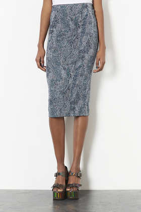 Tall Lurex Pencil Skirt - length: below the knee; fit: tight; waist: high rise; occasions: evening, occasion, creative work; style: tube; predominant colour: multicoloured; texture group: jersey - clingy; pattern type: fabric; pattern: patterned/print; fibres: viscose/rayon - mix; trends: gothic romance; season: a/w 2013; pattern size: light/subtle (bottom); multicoloured: multicoloured