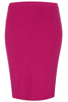 Petite Jersey Tube Skirt - pattern: plain; fit: tight; waist: high rise; predominant colour: hot pink; occasions: casual, evening, holiday, creative work; length: just above the knee; fibres: viscose/rayon - stretch; style: tube; texture group: jersey - clingy; pattern type: fabric; season: a/w 2013