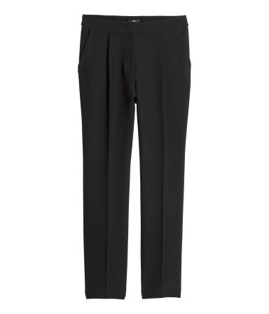 Suit Trousers - length: standard; pattern: plain; pocket detail: small back pockets, pockets at the sides; waist: mid/regular rise; predominant colour: black; occasions: evening, work, occasion; fibres: polyester/polyamide - stretch; fit: straight leg; pattern type: fabric; texture group: woven light midweight; style: standard; season: a/w 2013