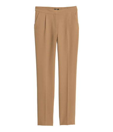 Suit Trousers - length: standard; pattern: plain; pocket detail: pockets at the sides; waist: mid/regular rise; predominant colour: camel; occasions: evening, work, creative work; fibres: polyester/polyamide - stretch; fit: straight leg; pattern type: fabric; texture group: woven light midweight; style: standard; season: a/w 2013