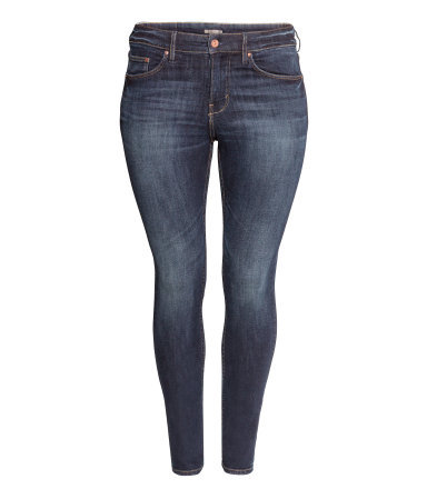 + Skinny Jeans - style: skinny leg; length: standard; pattern: plain; pocket detail: traditional 5 pocket; waist: mid/regular rise; predominant colour: navy; occasions: casual, evening, creative work; fibres: cotton - stretch; jeans detail: whiskering, shading down centre of thigh, dark wash, washed/faded; texture group: denim; pattern type: fabric; season: a/w 2013