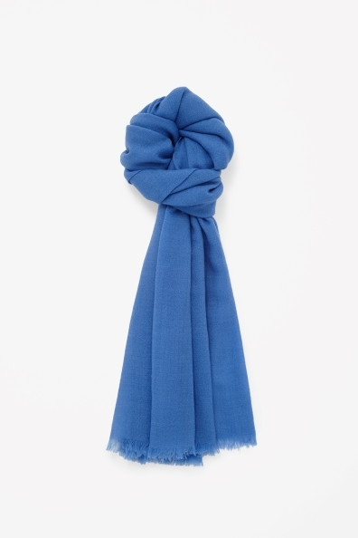 Fine Wool Scarf - predominant colour: diva blue; occasions: casual, work, creative work; style: regular; size: standard; material: knits; pattern: plain; trends: hot brights; season: a/w 2013