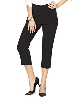 Pvl Crop Trousers, Navy - pattern: plain; waist: mid/regular rise; predominant colour: black; occasions: casual, evening, work, creative work; length: calf length; fibres: polyester/polyamide - stretch; fit: slim leg; texture group: other - light to midweight; style: standard; season: a/w 2013