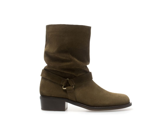 Flat Leather Ankle Boot - predominant colour: chocolate brown; occasions: casual, creative work; material: suede; heel height: flat; heel: standard; toe: round toe; boot length: mid calf; style: standard; finish: plain; pattern: plain; season: a/w 2013