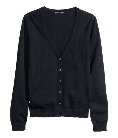 Fine Knit Cardigan - neckline: low v-neck; pattern: plain; predominant colour: black; occasions: casual, work, creative work; length: standard; style: standard; fibres: cotton - mix; fit: standard fit; sleeve length: long sleeve; sleeve style: standard; texture group: knits/crochet; pattern type: knitted - fine stitch; season: a/w 2013