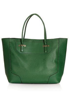 Saffiano Tote Bag - predominant colour: dark green; occasions: casual, work, creative work; type of pattern: standard; style: tote; length: handle; size: oversized; material: faux leather; pattern: plain; finish: plain; season: a/w 2013