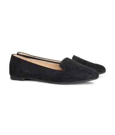 Loafers - predominant colour: black; occasions: casual, work, creative work; material: suede; heel height: flat; toe: round toe; style: loafers; finish: plain; pattern: plain; season: s/s 2014