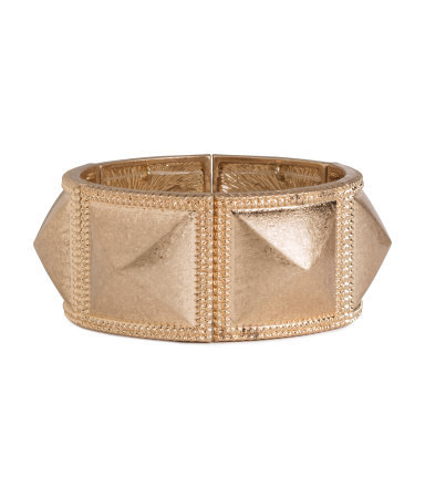 Bracelet - predominant colour: gold; occasions: casual, evening, occasion, holiday, creative work; style: bangle/standard; size: standard; material: chain/metal; finish: metallic; season: s/s 2014