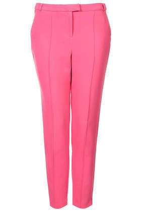 Stitch Cigarette Trousers - pattern: plain; waist: mid/regular rise; predominant colour: pink; occasions: casual, creative work; length: ankle length; fibres: polyester/polyamide - stretch; texture group: cotton feel fabrics; fit: slim leg; pattern type: fabric; style: standard; season: s/s 2014
