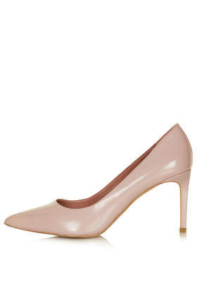 Golden Box Point Mid Shoes - predominant colour: nude; occasions: evening, work, occasion, creative work; material: leather; heel height: high; heel: stiletto; toe: pointed toe; style: courts; finish: plain; pattern: plain; trends: sorbet shades; season: s/s 2014