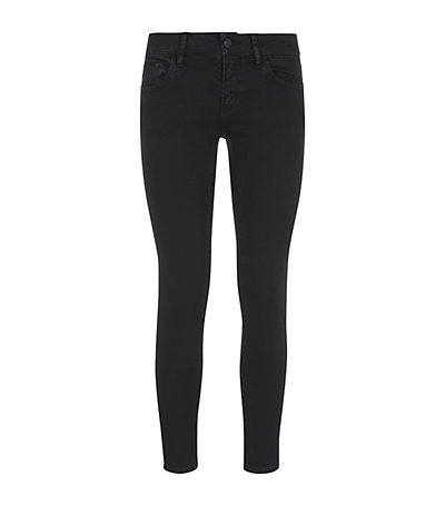 Short Fit Skinny Jeans - style: skinny leg; length: standard; pattern: plain; pocket detail: traditional 5 pocket; waist: mid/regular rise; predominant colour: black; occasions: casual, creative work; fibres: cotton - stretch; jeans detail: dark wash; texture group: denim; pattern type: fabric; season: s/s 2014