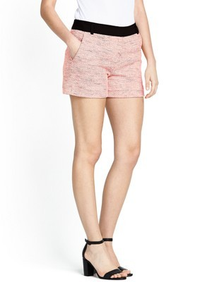 Bel Air Shorts, Pink - waist: high rise; pocket detail: pockets at the sides; pattern: herringbone/tweed; predominant colour: nude; secondary colour: black; occasions: casual, holiday, creative work; fibres: cotton - mix; pattern type: fabric; texture group: tweed - light/midweight; season: s/s 2014; style: shorts; length: short shorts; fit: slim leg