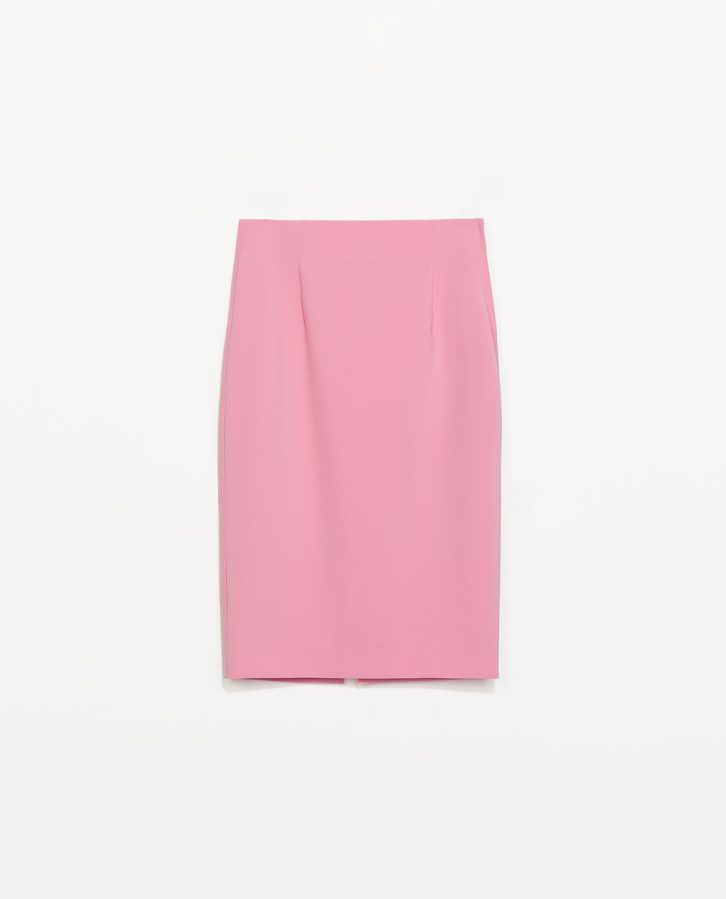 Midi Tube Skirt - length: below the knee; pattern: plain; fit: tailored/fitted; waist: high rise; predominant colour: pink; occasions: casual, evening, work, occasion, holiday, creative work; fibres: polyester/polyamide - stretch; style: tube; hip detail: sculpting darts/pleats/seams at hip; pattern type: fabric; texture group: jersey - stretchy/drapey; trends: sorbet shades; season: s/s 2014