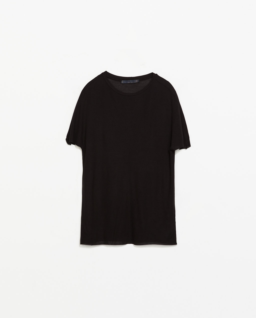 Pique Studio T Shirt - neckline: round neck; pattern: plain; style: t-shirt; predominant colour: black; occasions: casual, creative work; length: standard; fibres: silk - mix; fit: loose; sleeve length: short sleeve; sleeve style: standard; texture group: silky - light; pattern type: fabric; season: s/s 2014