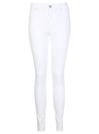 White Ultra Soft Jean - style: skinny leg; length: standard; pattern: plain; pocket detail: traditional 5 pocket; waist: mid/regular rise; predominant colour: white; occasions: casual, evening, holiday, creative work; fibres: cotton - stretch; texture group: denim; pattern type: fabric; season: s/s 2014