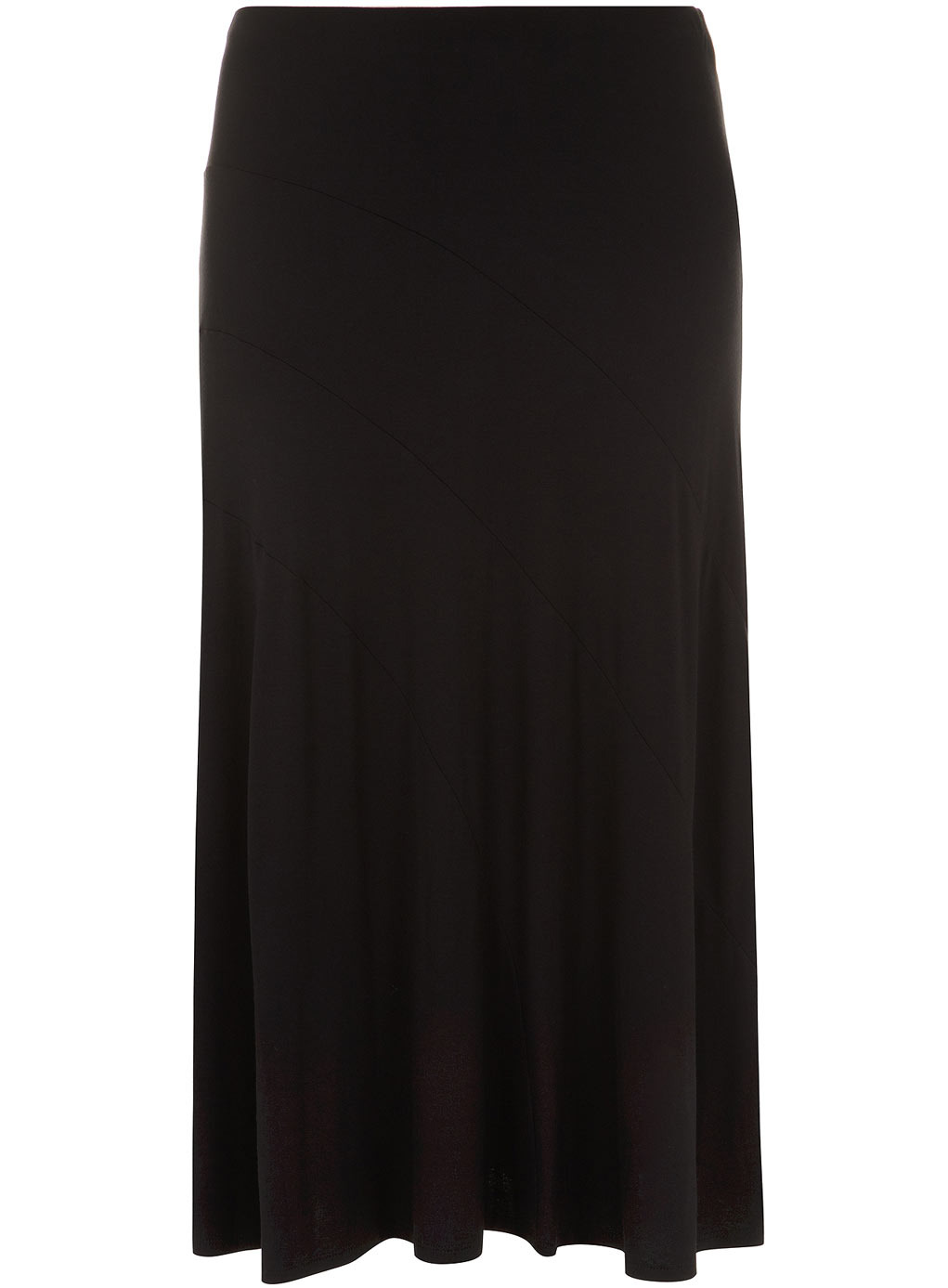 Black Maxi Skirt - pattern: plain; length: ankle length; fit: loose/voluminous; waist: high rise; predominant colour: black; occasions: casual, creative work; style: maxi skirt; fibres: viscose/rayon - stretch; pattern type: fabric; texture group: jersey - stretchy/drapey; season: s/s 2014