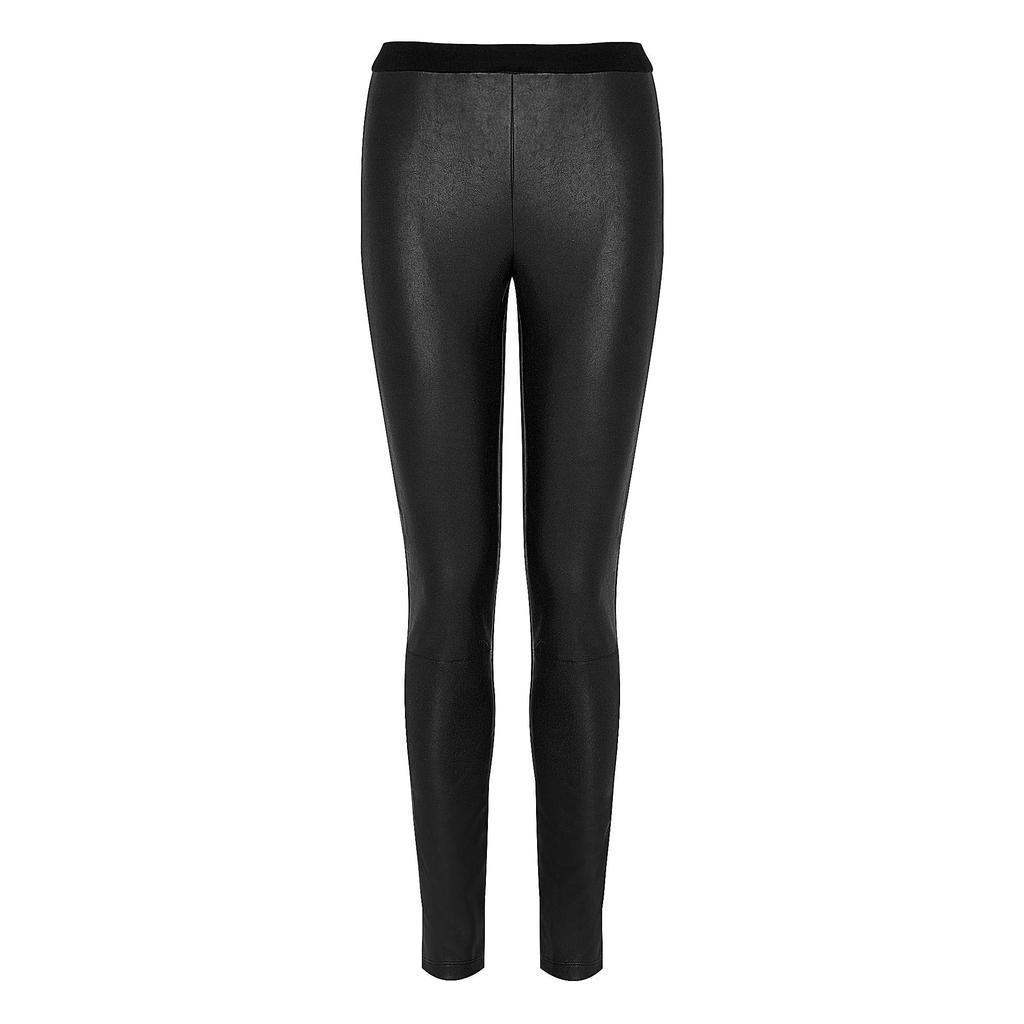 Agave Leather Effect Skinny Trouser - length: standard; pattern: plain; style: leggings; waist detail: elasticated waist; waist: mid/regular rise; predominant colour: black; occasions: casual, evening, creative work; texture group: leather; fit: skinny/tight leg; pattern type: fabric; fibres: pvc/polyurethene - mix; season: s/s 2014