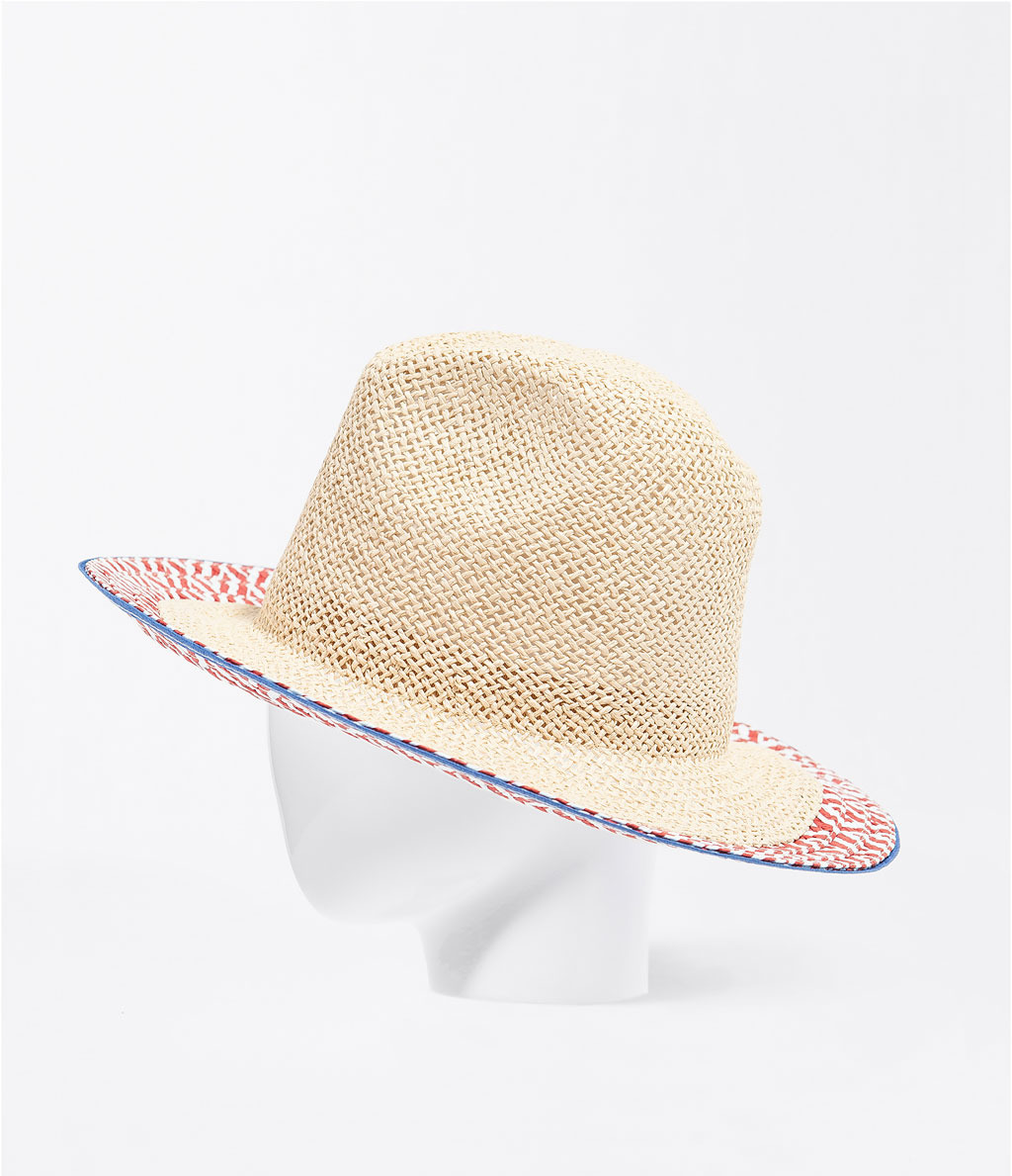 Raffia Hat - predominant colour: nude; occasions: casual, holiday; type of pattern: standard; style: brimmed; size: standard; material: macrame/raffia/straw; pattern: patterned/print; season: s/s 2014