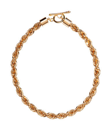 Short Necklace - predominant colour: gold; occasions: casual, evening, occasion; length: short; size: standard; material: chain/metal; finish: metallic; season: s/s 2014; style: chain (no pendant)