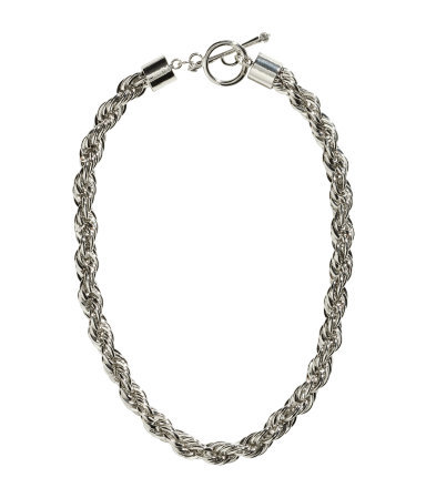 Short Necklace - predominant colour: silver; occasions: casual, evening, work, occasion, holiday, creative work; length: short; size: standard; material: chain/metal; finish: metallic; embellishment: chain/metal; season: s/s 2014; style: chain (no pendant)