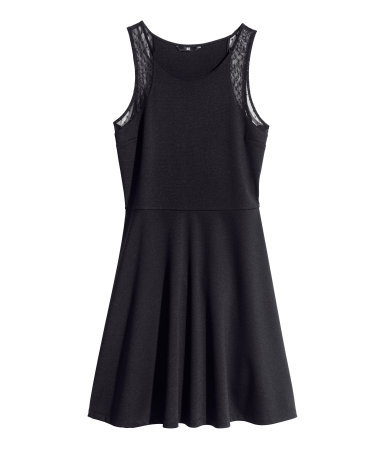 Jersey Dress - style: shift; length: mid thigh; neckline: round neck; pattern: plain; sleeve style: sleeveless; shoulder detail: contrast pattern/fabric at shoulder; predominant colour: black; occasions: casual, evening, occasion, creative work; fit: fitted at waist & bust; fibres: polyester/polyamide - stretch; hip detail: subtle/flattering hip detail; sleeve length: sleeveless; texture group: jersey - stretchy/drapey; season: s/s 2014