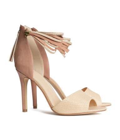 Sandals - predominant colour: camel; secondary colour: nude; occasions: evening, occasion, creative work; material: faux leather; ankle detail: ankle strap; heel: standard; toe: open toe/peeptoe; style: standard; finish: plain; pattern: colourblock; heel height: very high; season: s/s 2014