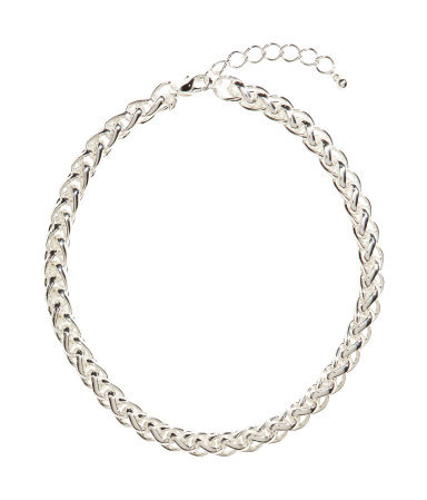 Chain Necklace - predominant colour: silver; occasions: casual, evening, work, occasion, creative work; length: short; size: standard; material: chain/metal; finish: metallic; season: s/s 2014; style: chain (no pendant)