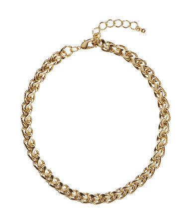 Chain Necklace - predominant colour: gold; occasions: casual, evening, work, occasion, creative work; length: short; size: standard; material: chain/metal; finish: metallic; season: s/s 2014; style: chain (no pendant)