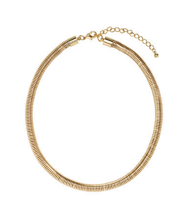 Short Necklace - predominant colour: gold; occasions: evening, work, occasion, holiday, creative work; length: short; size: standard; material: chain/metal; finish: metallic; season: s/s 2014; style: chain (no pendant)