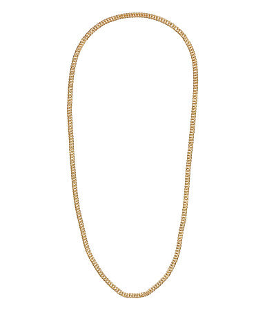 Chain Necklace - predominant colour: gold; occasions: casual, evening, occasion, holiday, creative work; length: mid; size: standard; material: chain/metal; finish: metallic; season: s/s 2014; style: chain (no pendant)