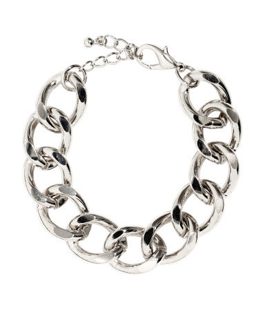 Chain Bracelet - predominant colour: silver; occasions: casual, evening, occasion, creative work; style: chain; size: large/oversized; material: chain/metal; finish: metallic; season: s/s 2014