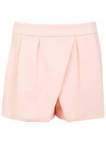 Petites Nude Crepe Skort - length: mini; pattern: plain; fit: tailored/fitted; style: skorts; waist: mid/regular rise; predominant colour: blush; occasions: casual, occasion, creative work; fibres: polyester/polyamide - stretch; texture group: crepes; pattern type: fabric; trends: sorbet shades; season: s/s 2014