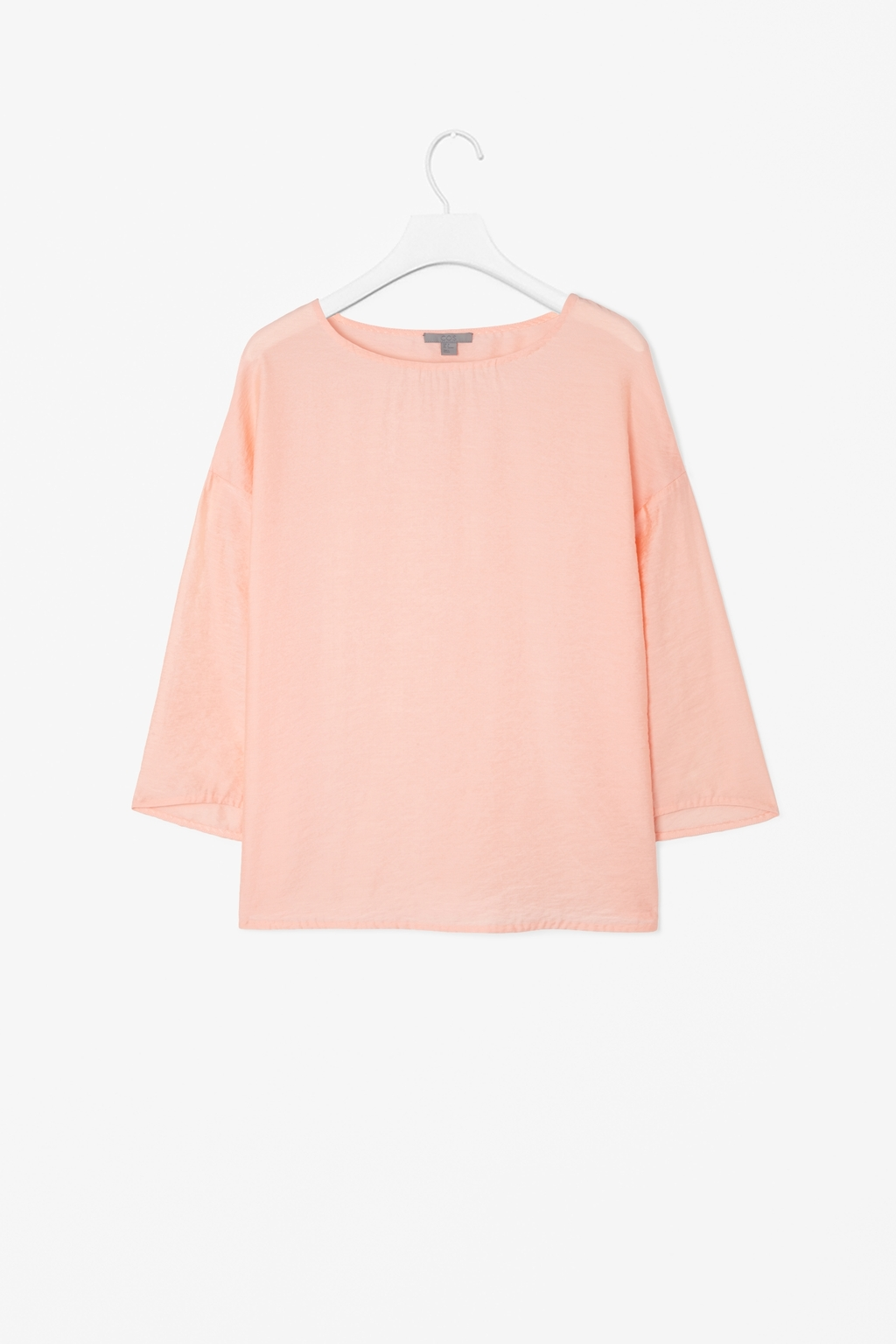 Wide Sleeved Top - neckline: round neck; pattern: plain; style: blouse; predominant colour: nude; occasions: casual, evening; length: standard; fit: loose; sleeve length: 3/4 length; sleeve style: standard; texture group: cotton feel fabrics; pattern type: fabric; fibres: viscose/rayon - mix; season: s/s 2014