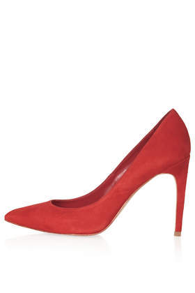 Glory High Shoes - predominant colour: true red; occasions: evening, work, occasion, creative work; material: leather; heel: stiletto; toe: pointed toe; style: courts; finish: plain; pattern: plain; heel height: very high; season: s/s 2014