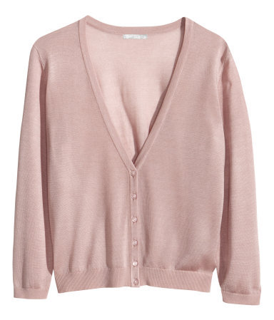 + Fine Knit Cardigan - neckline: low v-neck; pattern: plain; predominant colour: blush; occasions: casual, work, creative work; length: standard; style: standard; fibres: silk - mix; fit: standard fit; sleeve length: long sleeve; sleeve style: standard; texture group: knits/crochet; pattern type: knitted - fine stitch; season: s/s 2014