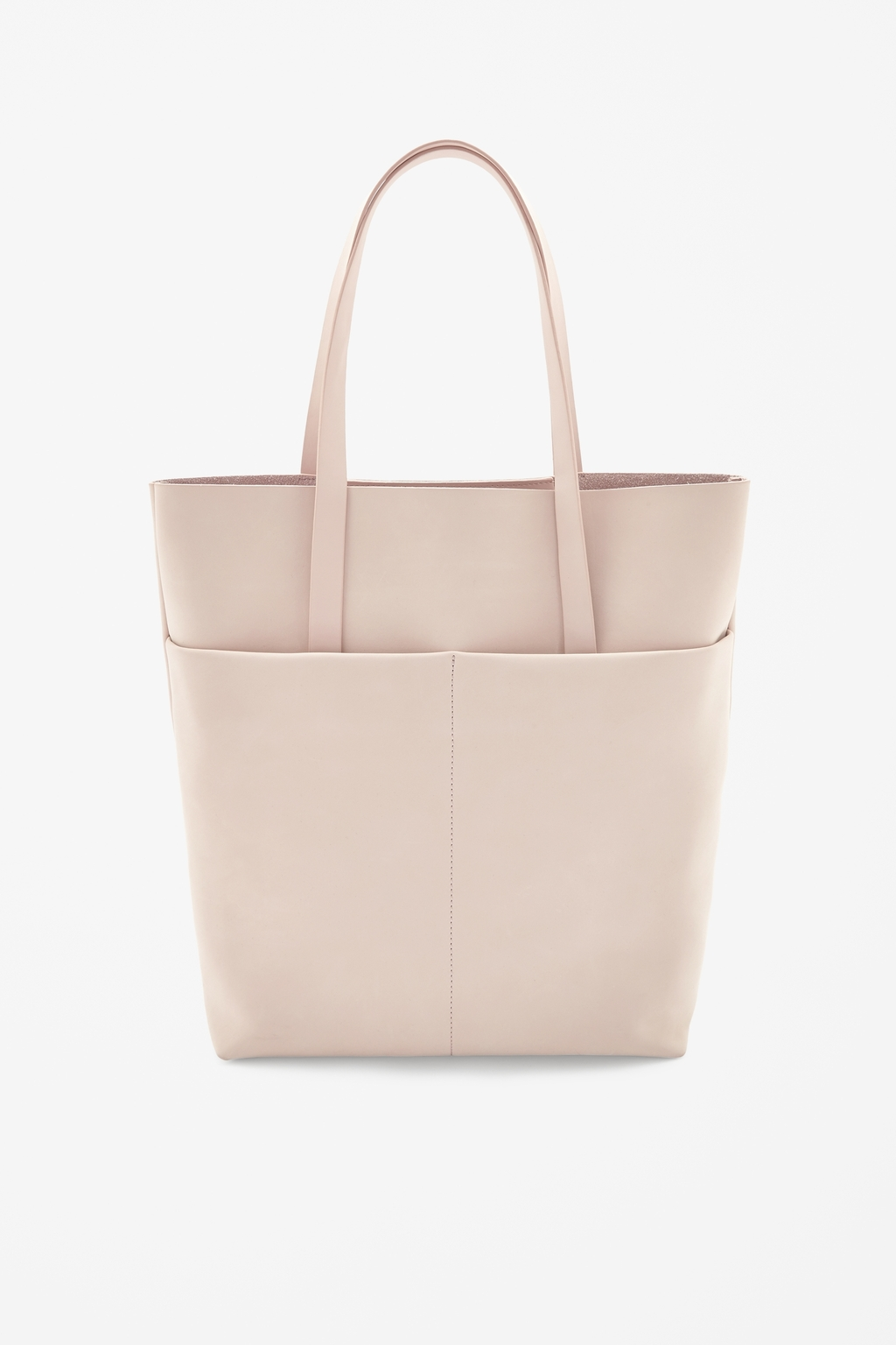 Nubuck Leather Tote - predominant colour: nude; occasions: casual, creative work; type of pattern: standard; style: tote; length: handle; size: standard; material: leather; pattern: plain; finish: plain; season: s/s 2014