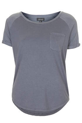 Washed Pocket Tee - neckline: round neck; pattern: plain; style: t-shirt; predominant colour: charcoal; occasions: casual; length: standard; fibres: cotton - stretch; fit: body skimming; sleeve length: short sleeve; sleeve style: standard; pattern type: fabric; texture group: jersey - stretchy/drapey; season: s/s 2014