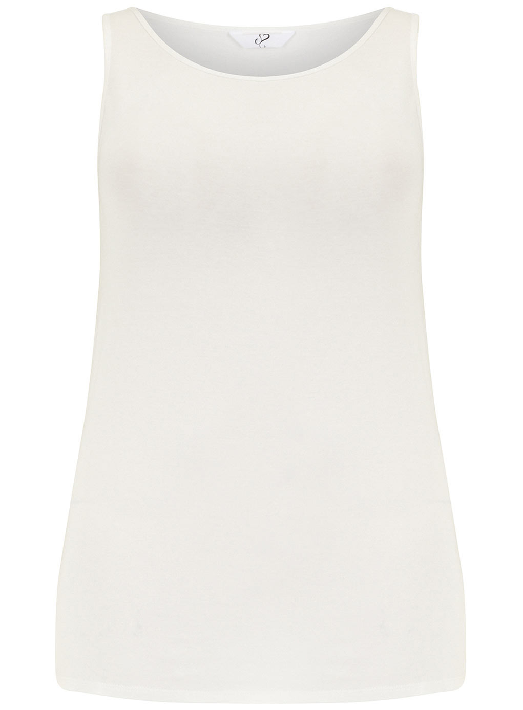 Ivory Sleeveless Ivory Vest - neckline: round neck; pattern: plain; sleeve style: sleeveless; style: vest top; predominant colour: ivory/cream; occasions: casual, holiday, creative work; length: standard; fibres: viscose/rayon - stretch; fit: body skimming; sleeve length: sleeveless; pattern type: fabric; texture group: jersey - stretchy/drapey; season: s/s 2014