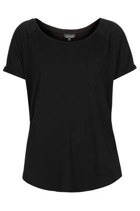 Washed Tee - neckline: round neck; pattern: plain; style: t-shirt; predominant colour: black; occasions: casual; length: standard; fibres: cotton - 100%; fit: body skimming; sleeve length: short sleeve; sleeve style: standard; pattern type: fabric; texture group: jersey - stretchy/drapey; season: s/s 2014