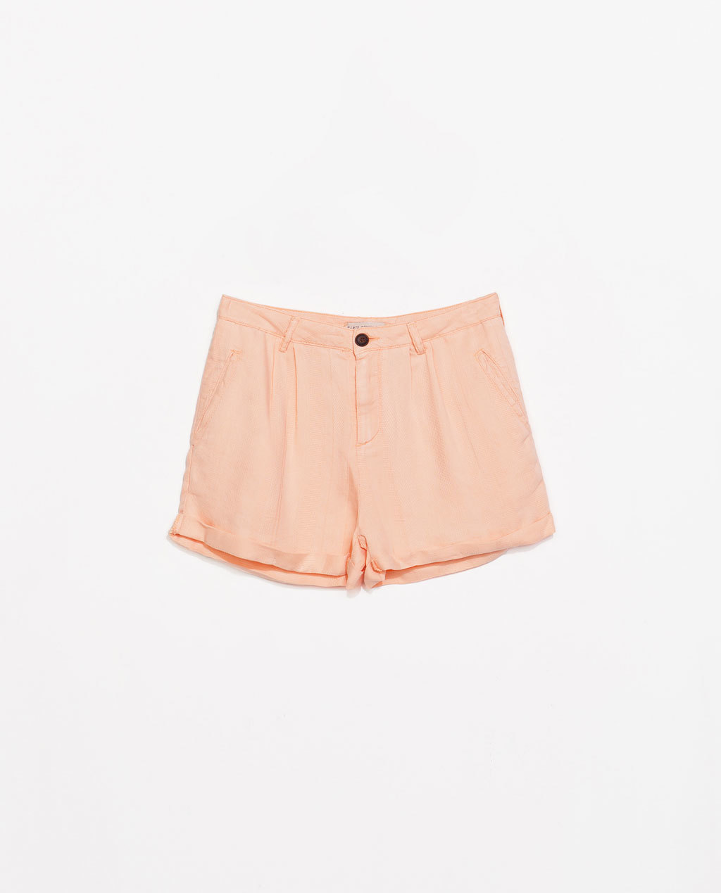 Jacquard Bermudas - pattern: plain; waist: mid/regular rise; predominant colour: nude; occasions: casual, holiday; fibres: linen - mix; pattern type: fabric; texture group: brocade/jacquard; season: s/s 2014; style: shorts; length: short shorts; fit: slim leg