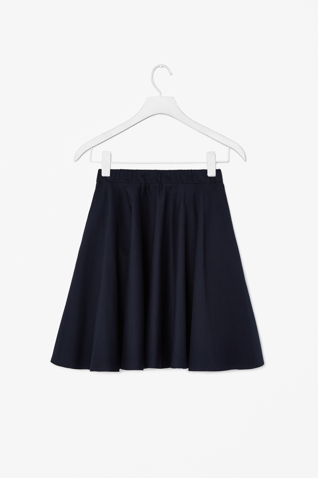 Circle Jersey Skirt - pattern: plain; style: full/prom skirt; fit: loose/voluminous; waist: mid/regular rise; predominant colour: navy; occasions: casual, creative work; length: just above the knee; fibres: cotton - 100%; pattern type: fabric; texture group: jersey - stretchy/drapey; season: s/s 2014