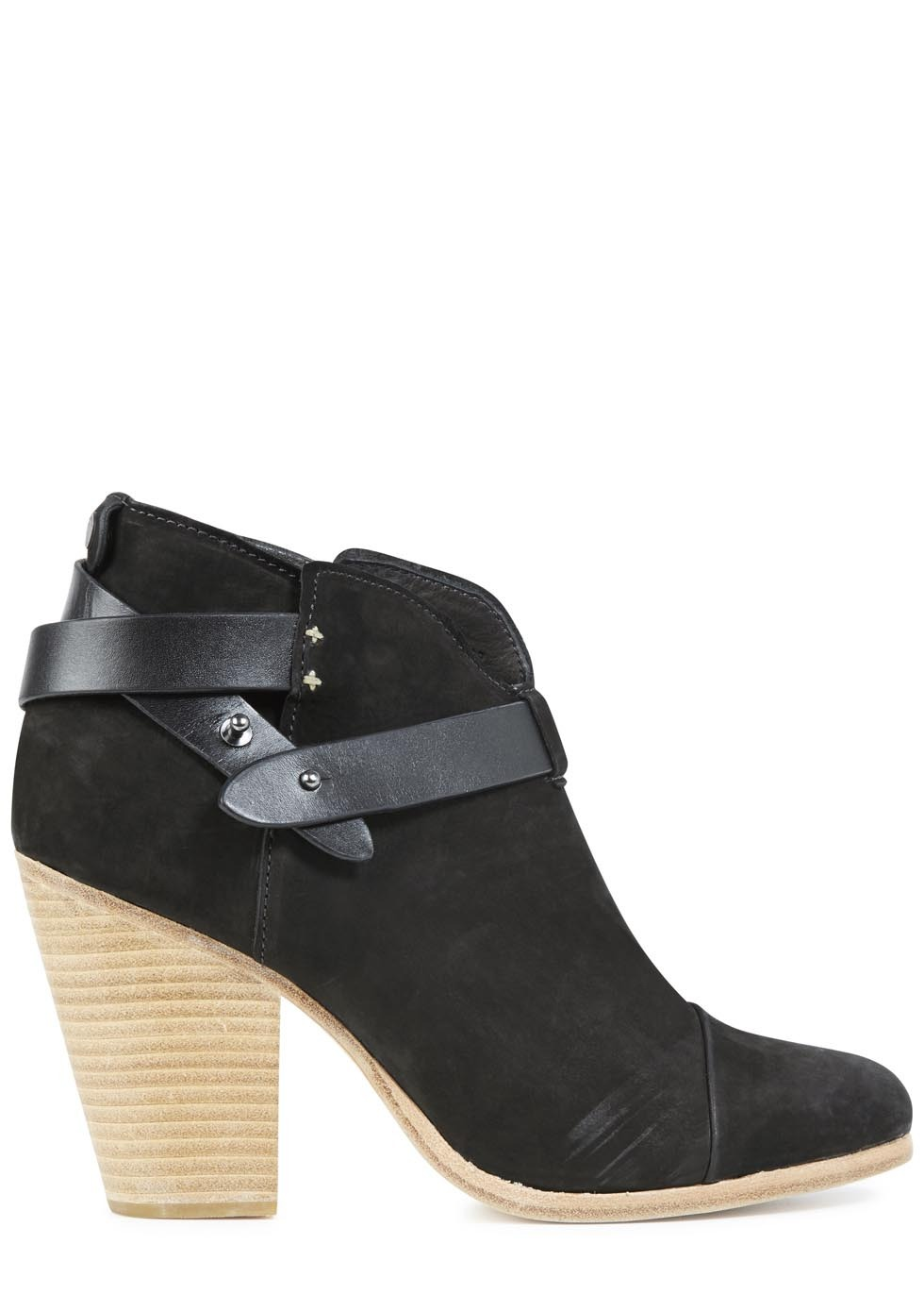 Harrow Black Suede Ankle Boots - predominant colour: black; occasions: casual; material: suede; heel height: high; heel: block; toe: round toe; boot length: ankle boot; style: standard; finish: plain; pattern: plain; season: s/s 2014