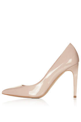 Glory High Heel Shoes - predominant colour: nude; occasions: evening, occasion; material: leather; heel: stiletto; toe: pointed toe; style: courts; finish: patent; pattern: plain; heel height: very high; season: s/s 2014
